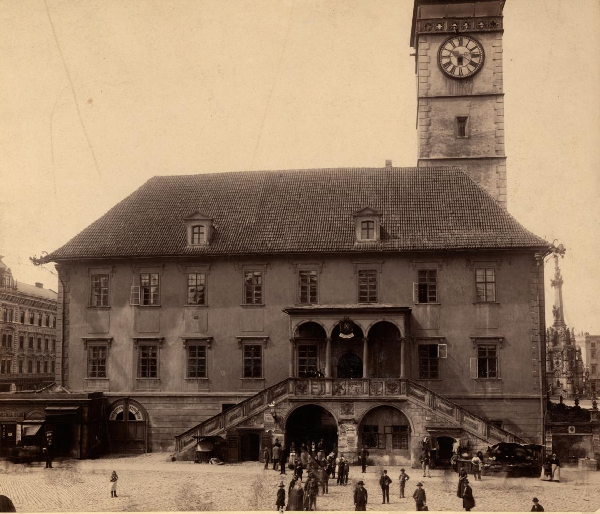 Olomoucká radnice 1890 - 1900