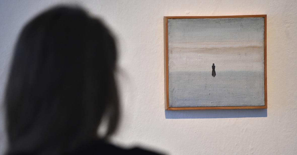 Patrik Hábl vystavuje velkoformátové malby