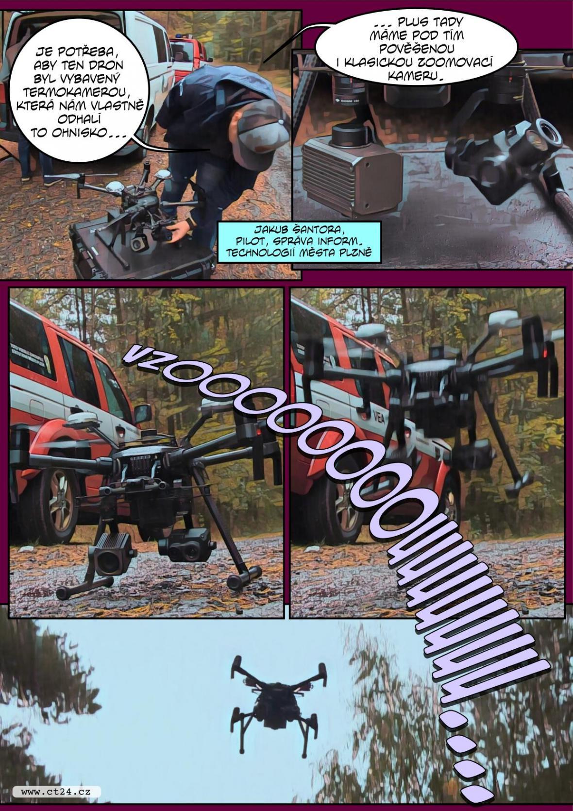 Hasiči v Plzni začali jako první používat při záchraně drony