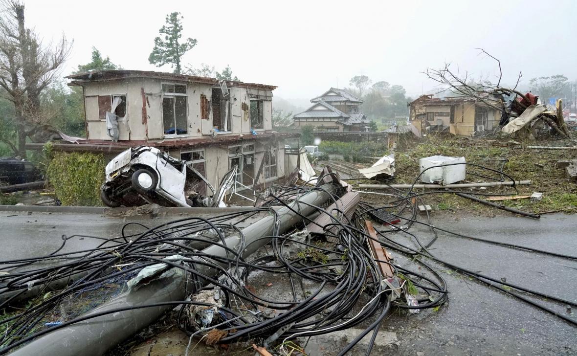 Škody napáchené tajfunem Hagibis v Japonsku