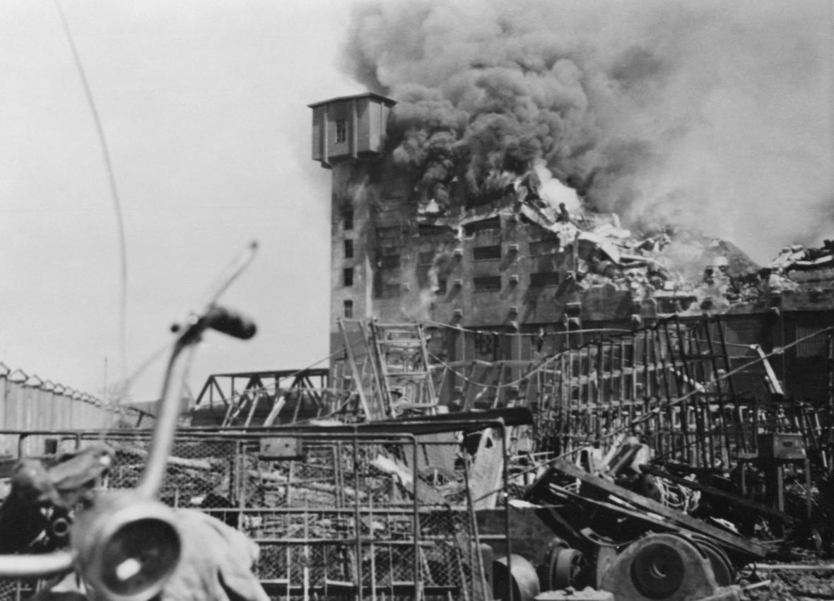 Škody způsobené bombardováním Plzně