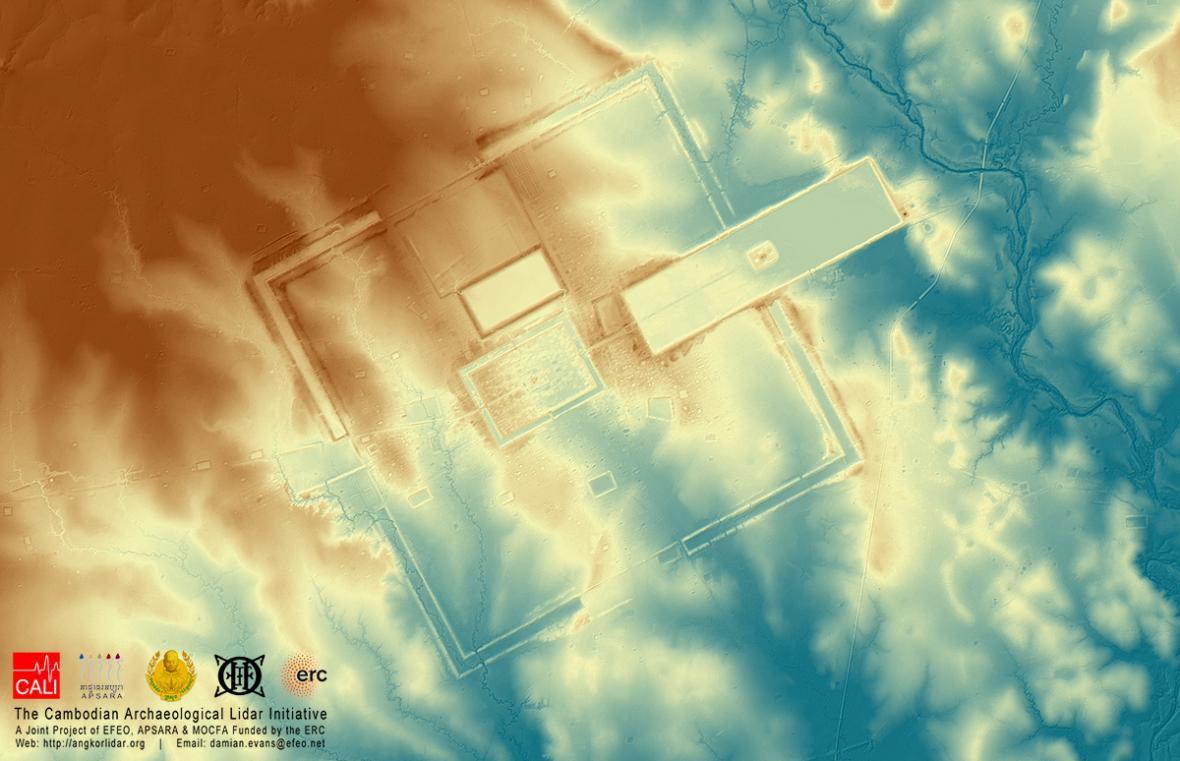 Město v Kambodži odhalené LIDARem
