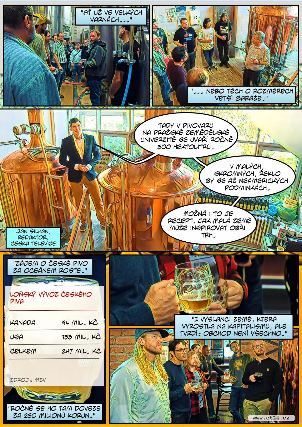 Mezi pivovary v zámoří roste zájem o české pivo i jeho výrobu