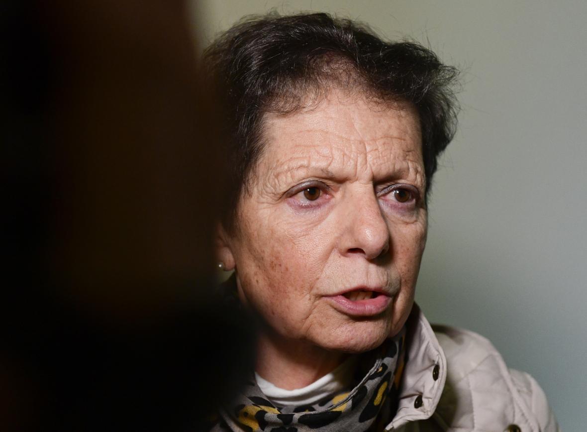 Galina Vašová, dcera prokurátora Karla Vaše přišla podpořit očištění Milana Píky