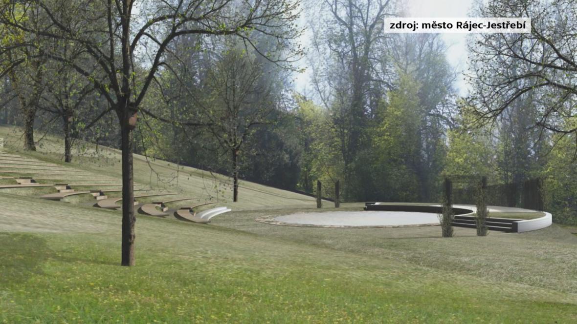 Vizualizace amfiteátru v Rájci-Jestřebí