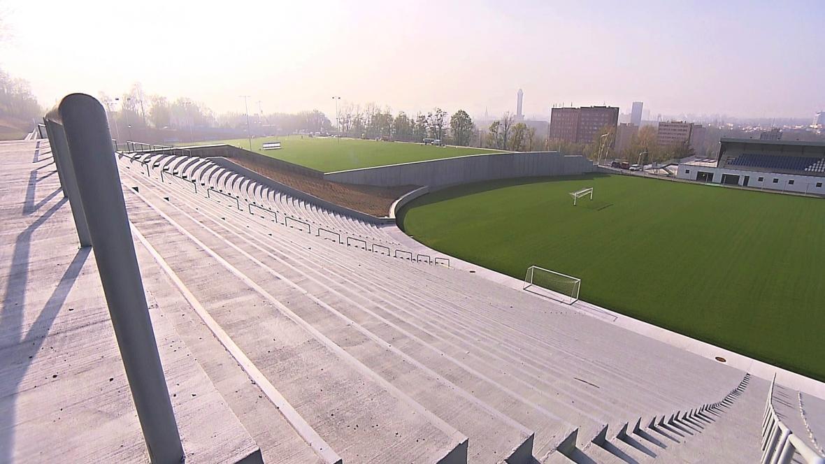 Fotbalový stadion Bazaly se proměňuje v tréninkový areál