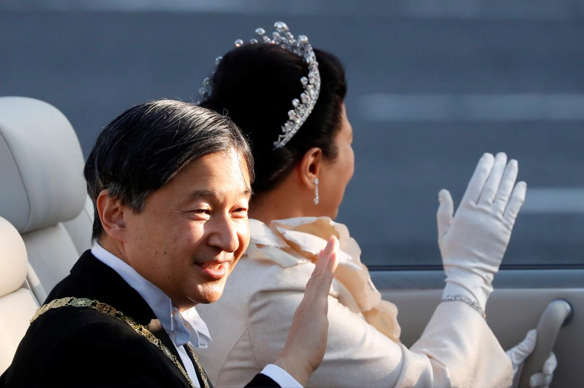 Slavnostní průvod u příležitosti uvedení na trůn nového japonského císaře