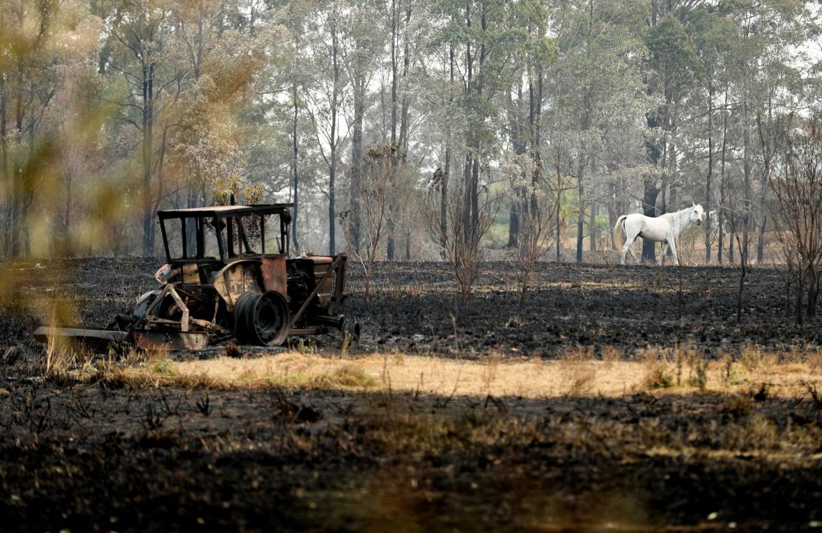 Spálená zemědělská půda