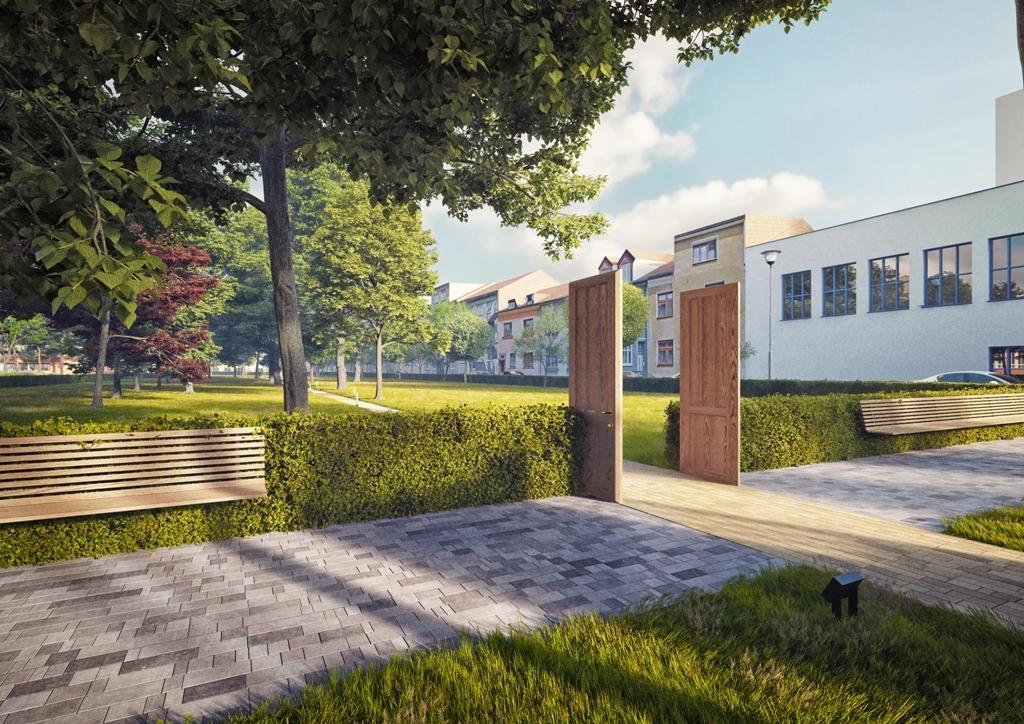 Vizualizace úpravy židovského hřbitova v Prostějově