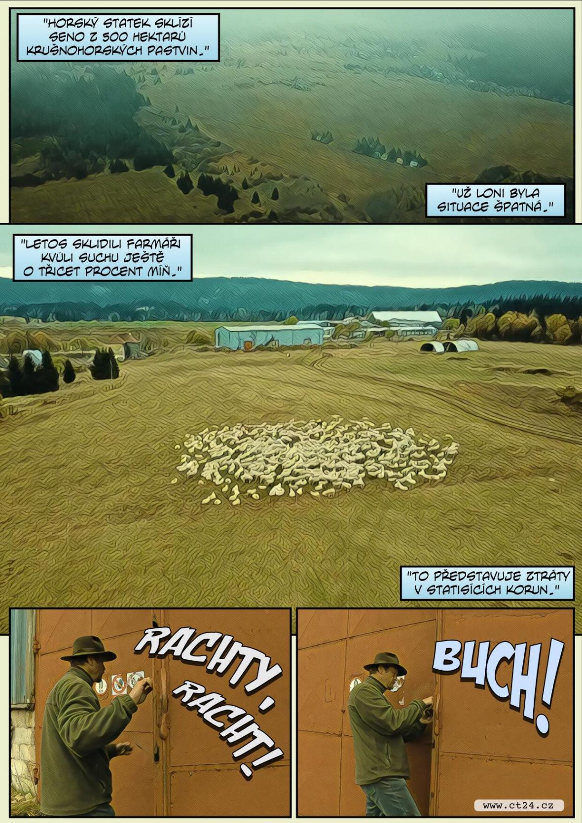 Pastevci se připravují na zimu a zahnali stáda ovcí z luk do stájí