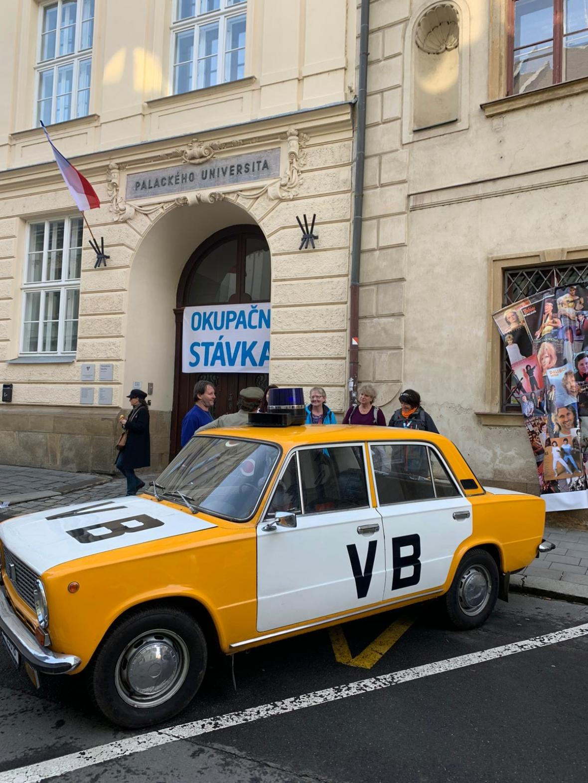 Rekonstrukce okupační stávky na Filosofické fakultě UP v Olomouci