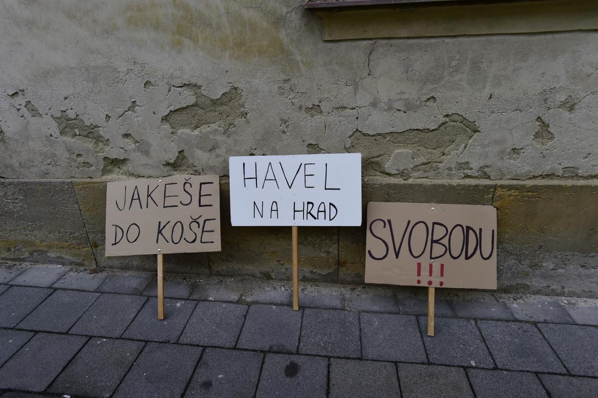 Rekonstrukce okupační stávky v Olomouci