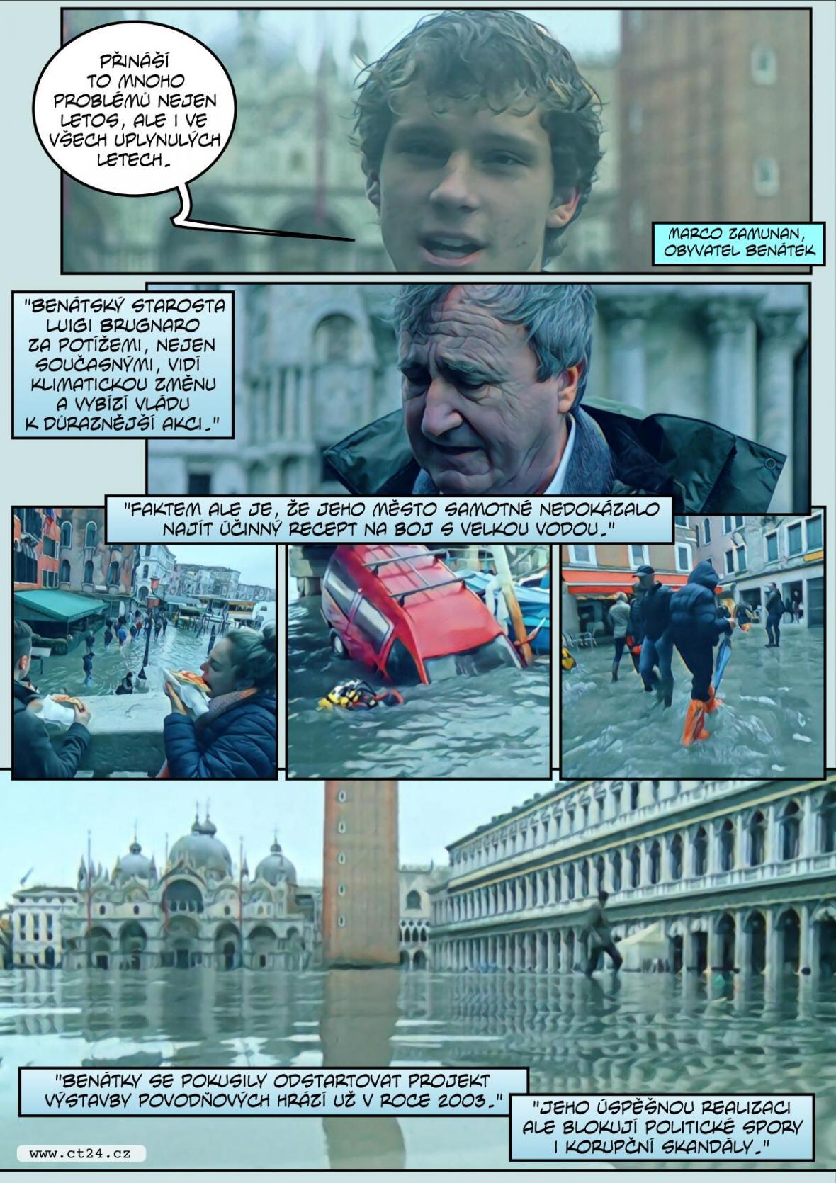Obchody i památky pod vodou. Italská vláda vyhlásila v Benátkách stav nouze