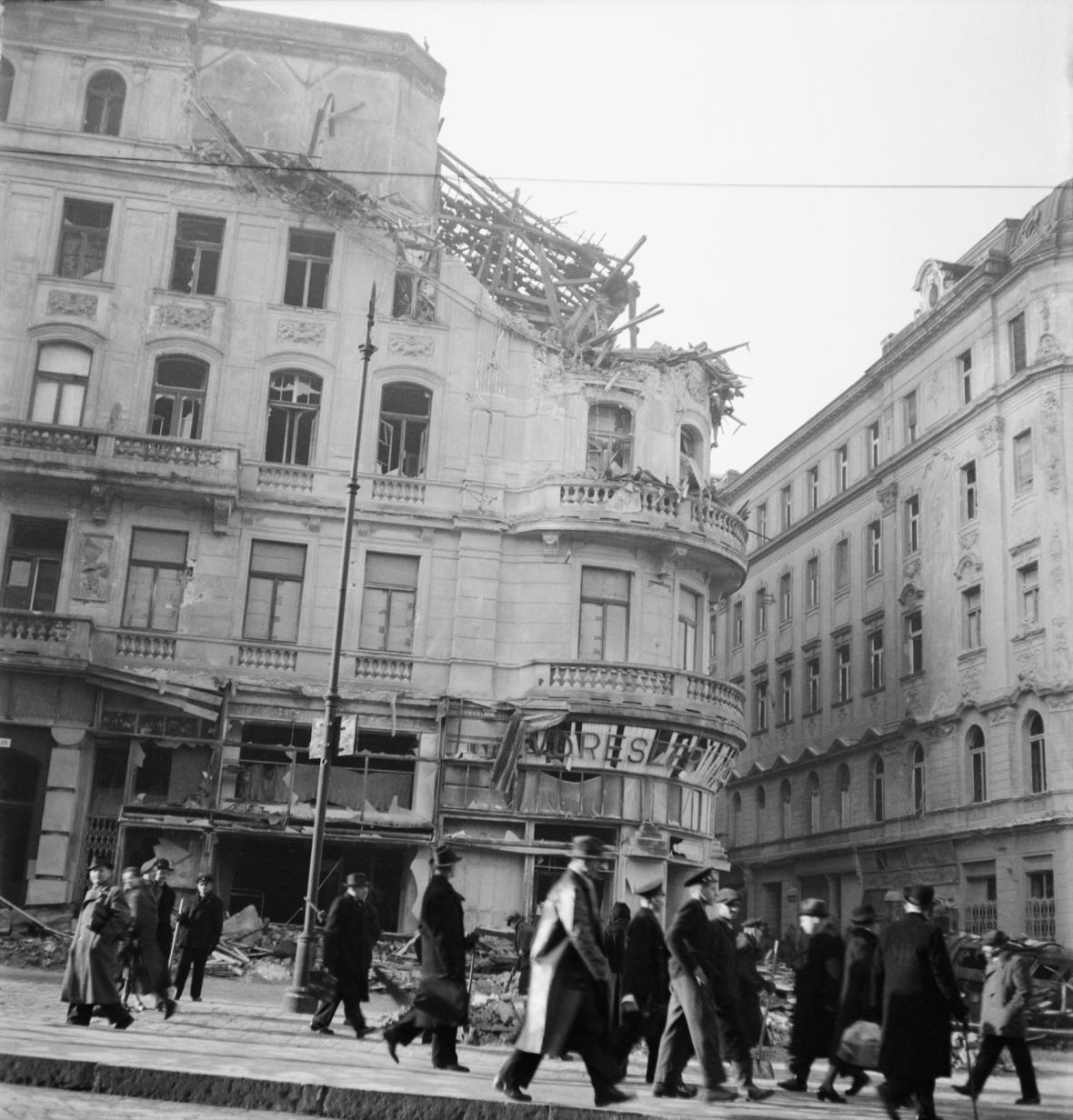 Následky bombardování Brna 20. 11. 1944