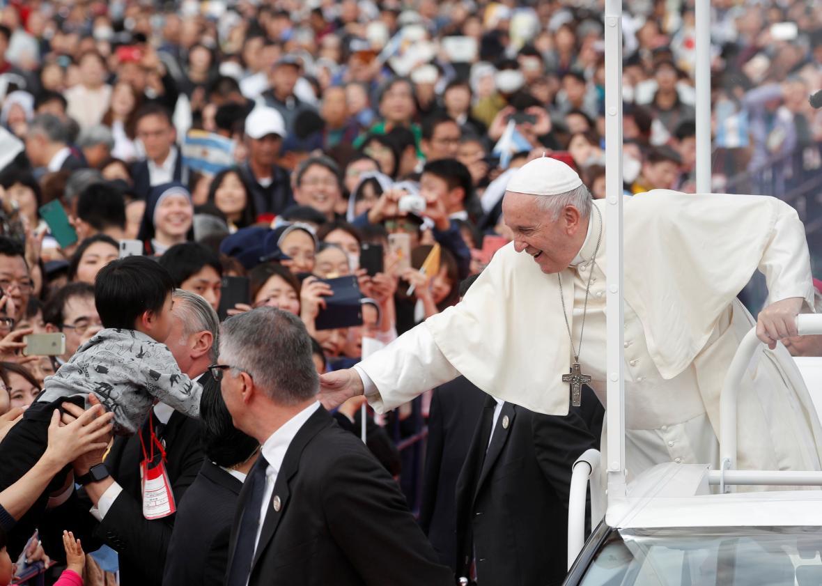 Papež František navštívil Japonsko