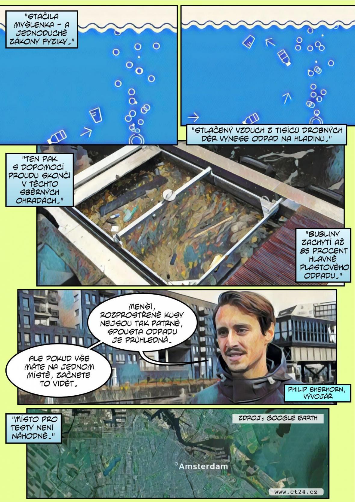 Lék na plastové odpady ve vodě? Vědci testují bariéru z bublin