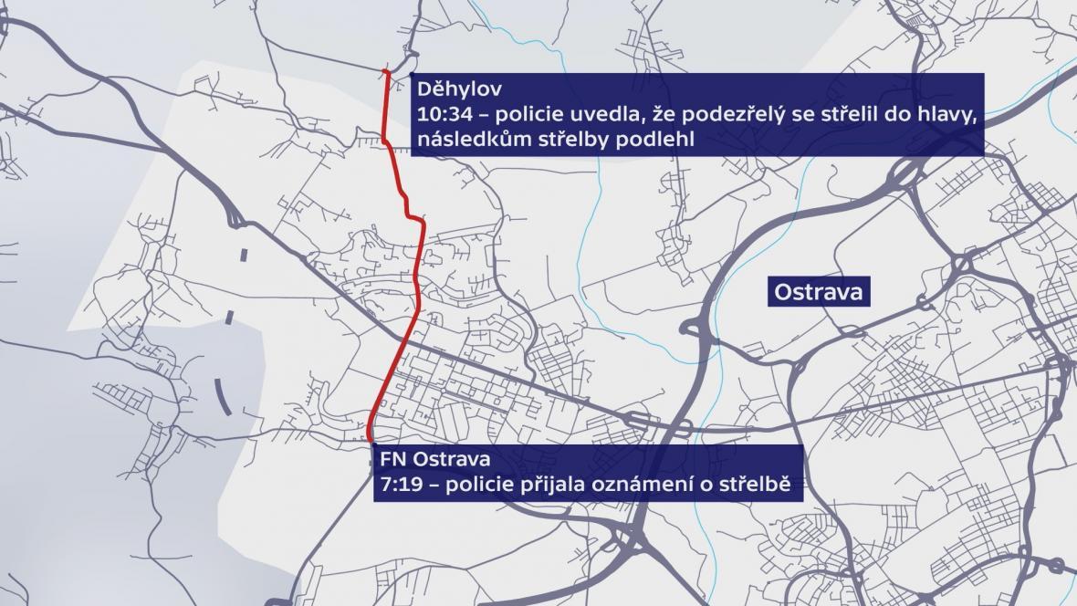 Mapa pohybu střelce