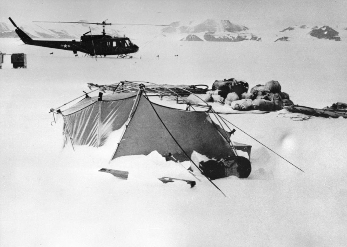 Fotografie polárníka a geologa Josefa Sekyry
