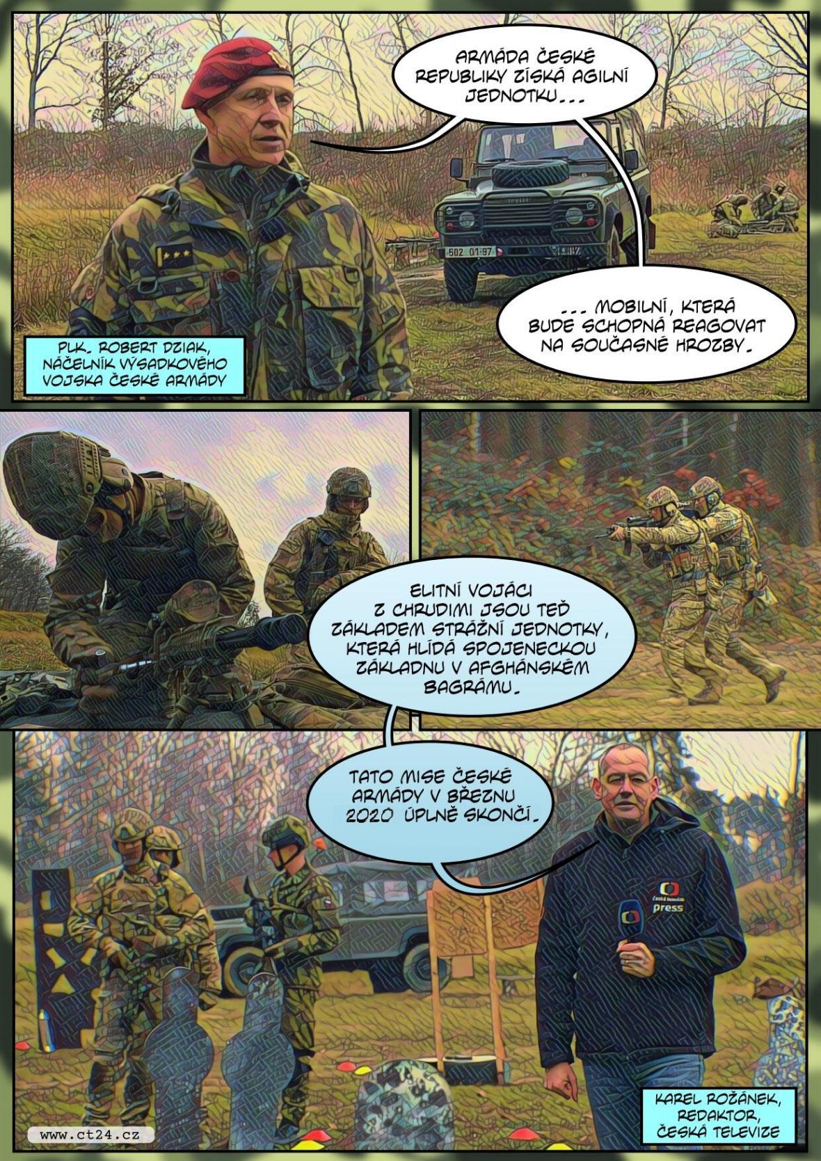 Armáda České republiky posiluje. Vznikl nový výsadkový pluk