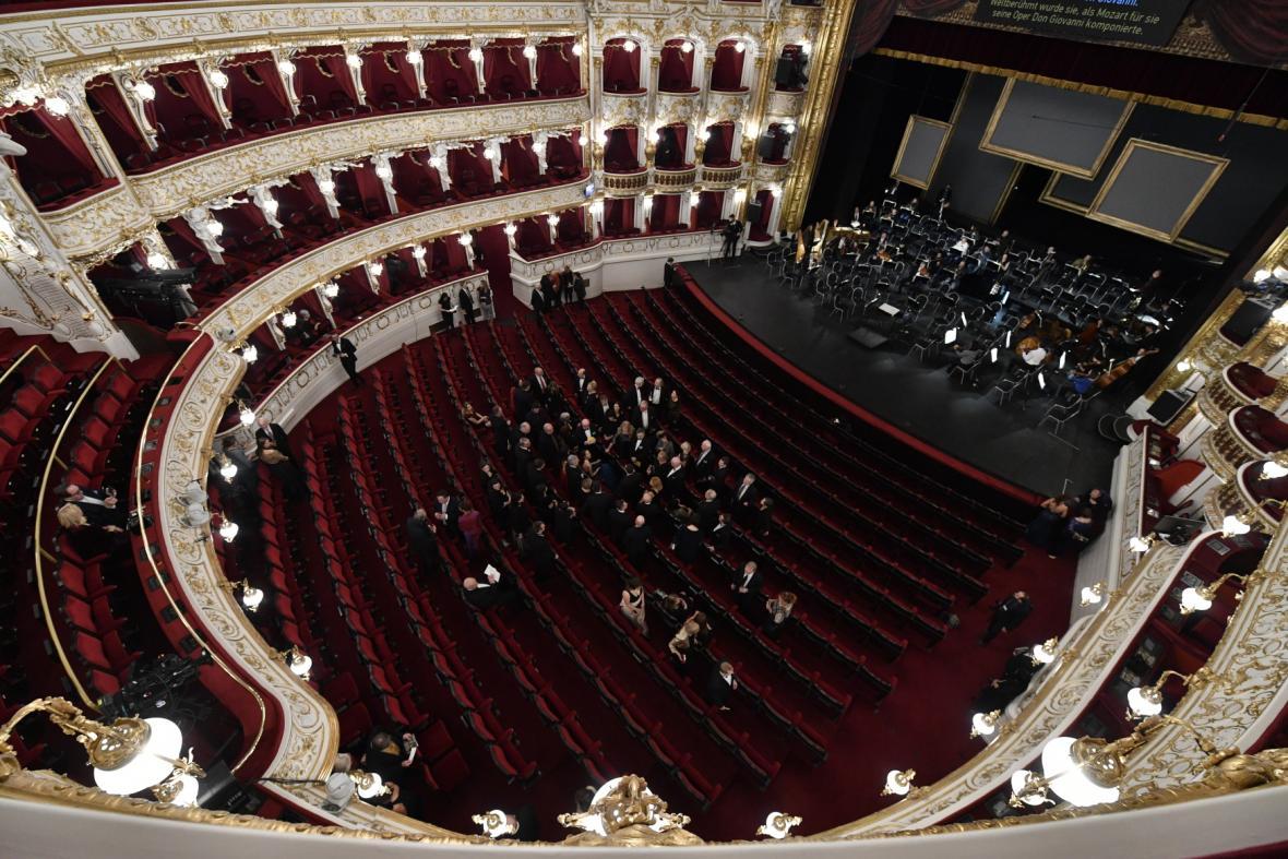 Hlediště nově zrekonstruované Státní opery