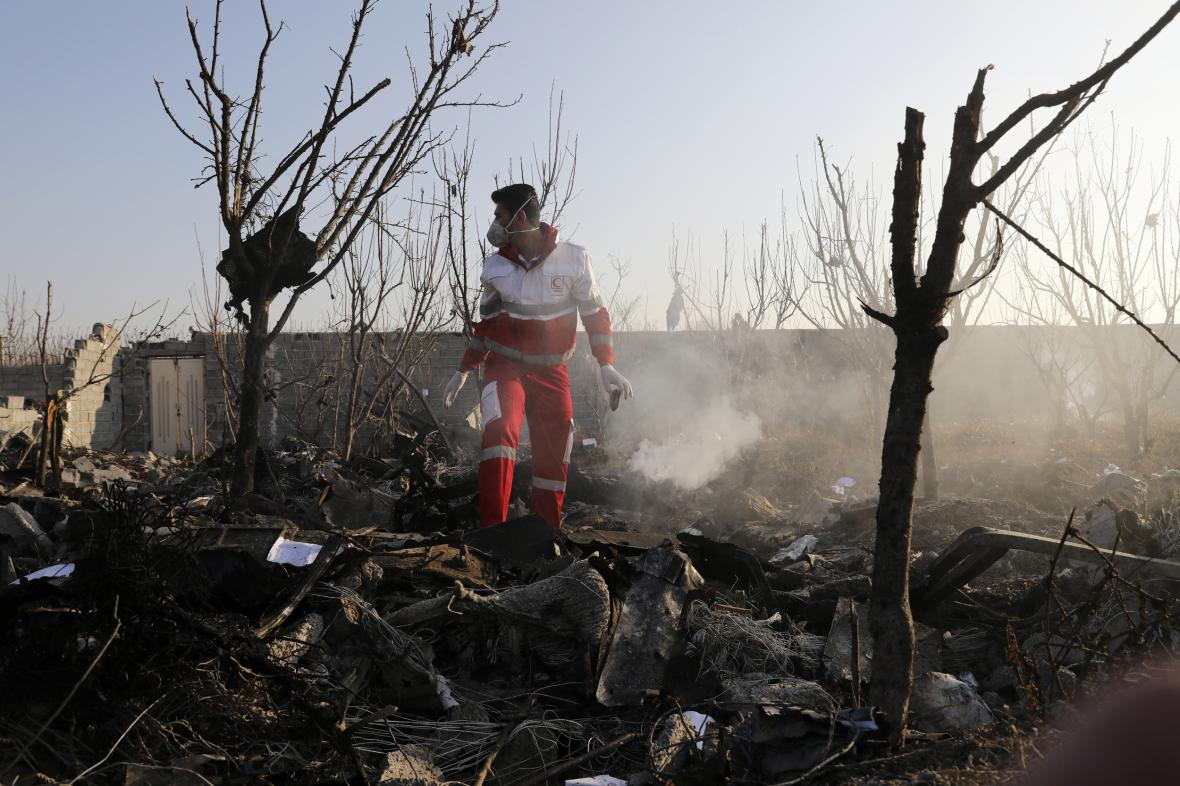 U Teheránu se zřítilo ukrajinské letadlo