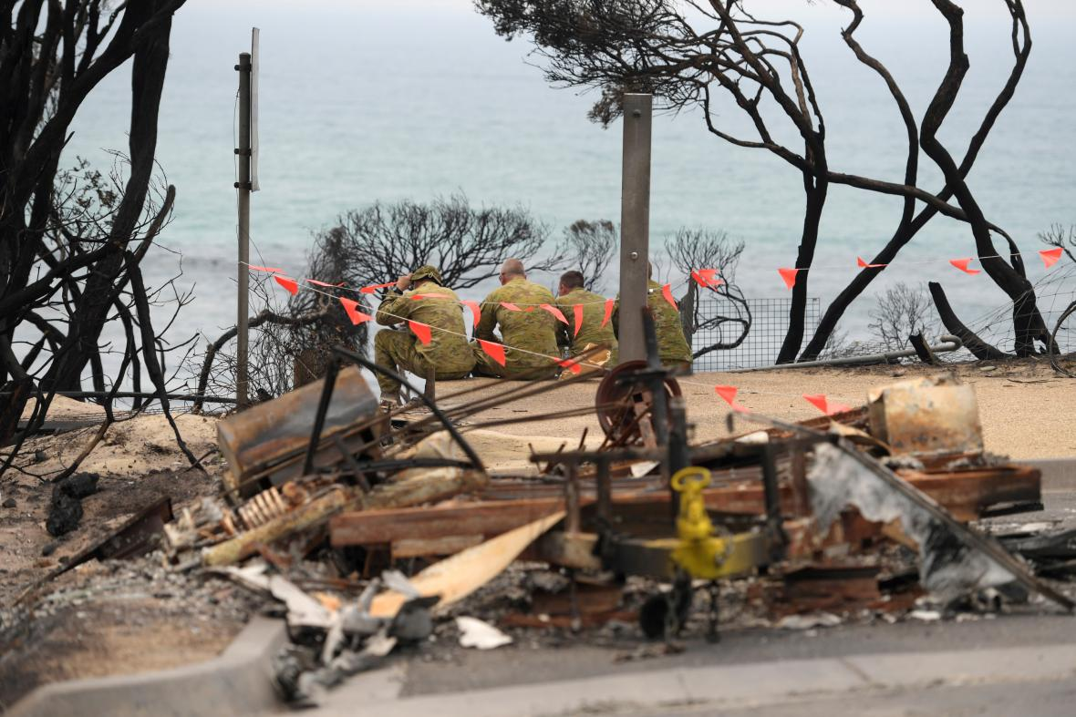 Následky požárů s Austrálii