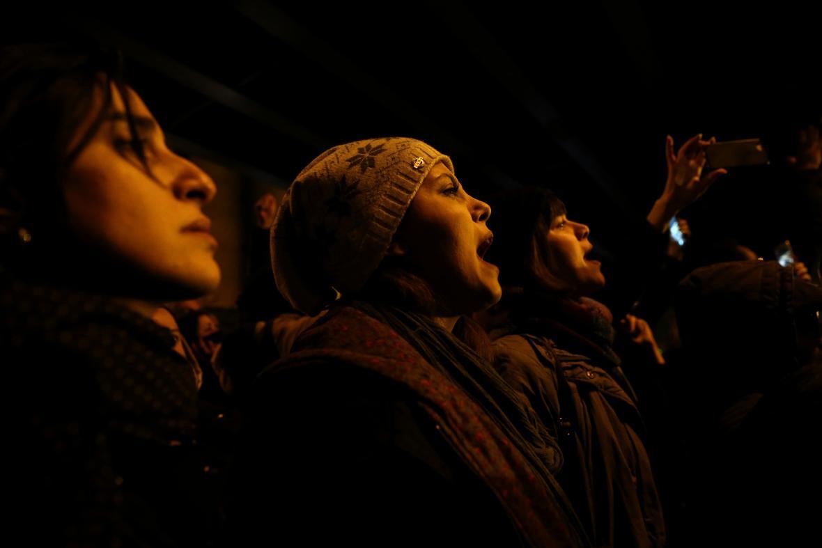 Demonstranti v Teheránu