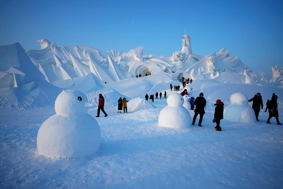 Festival ledu v čínské městě Charbin