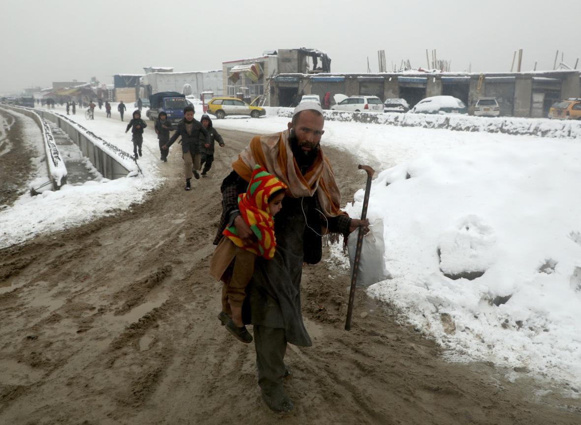 Afgánce v posledních dnech zaskočila sněhová nadílka