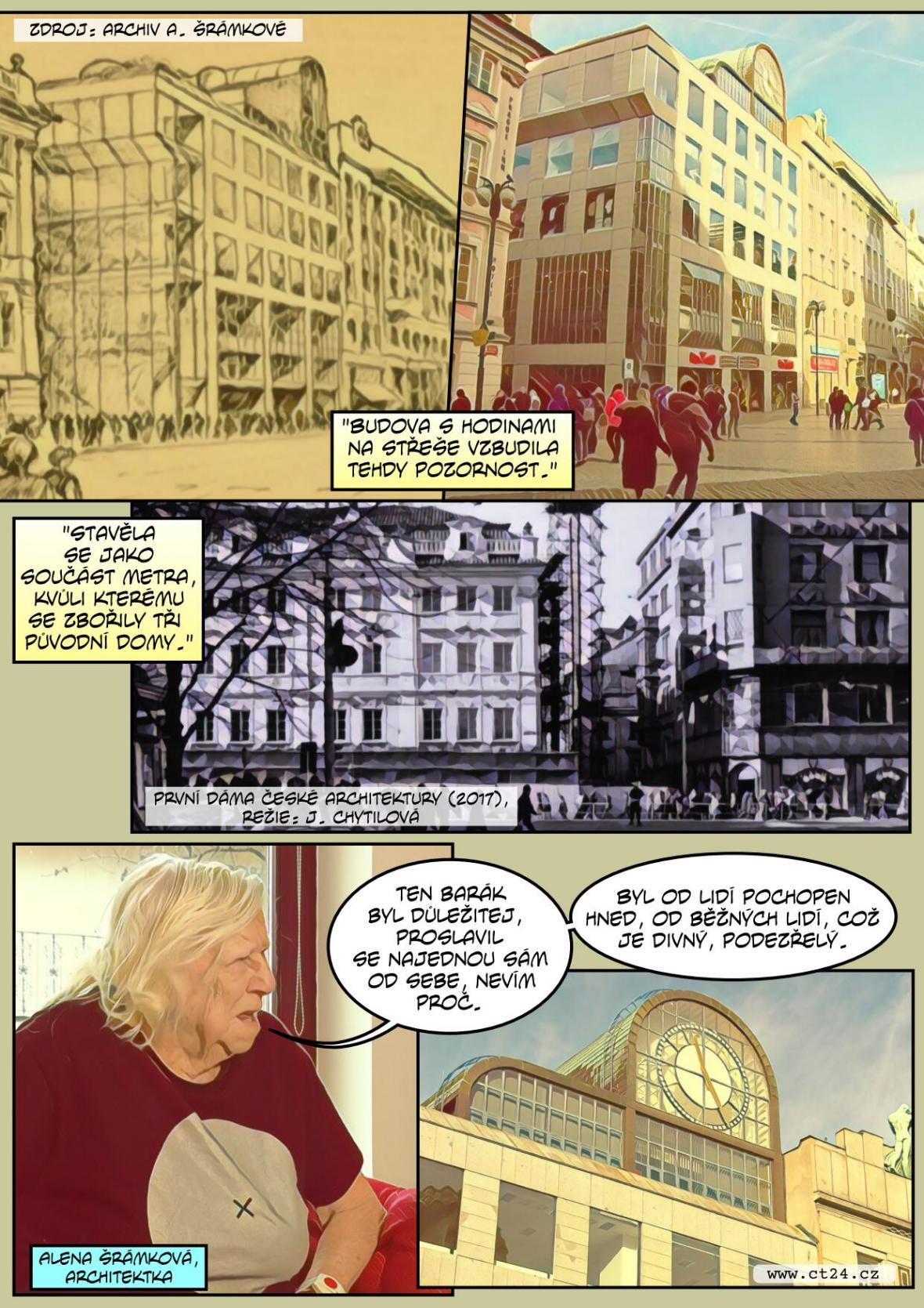 Výstava k výročí narození architektky Aleny Šrámkové