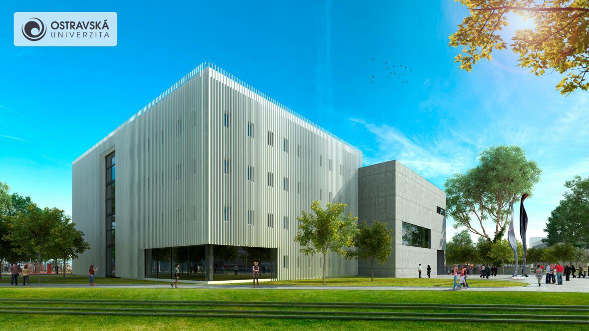 Vizualizace dvou nových budov Ostravské univerzity