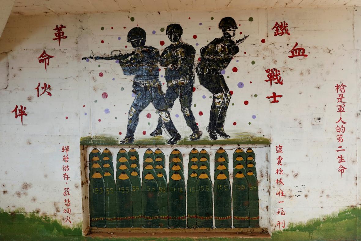 Tchaj-wanské bunkry dnes slouží jinému účelu, než pro který byly zbudovány