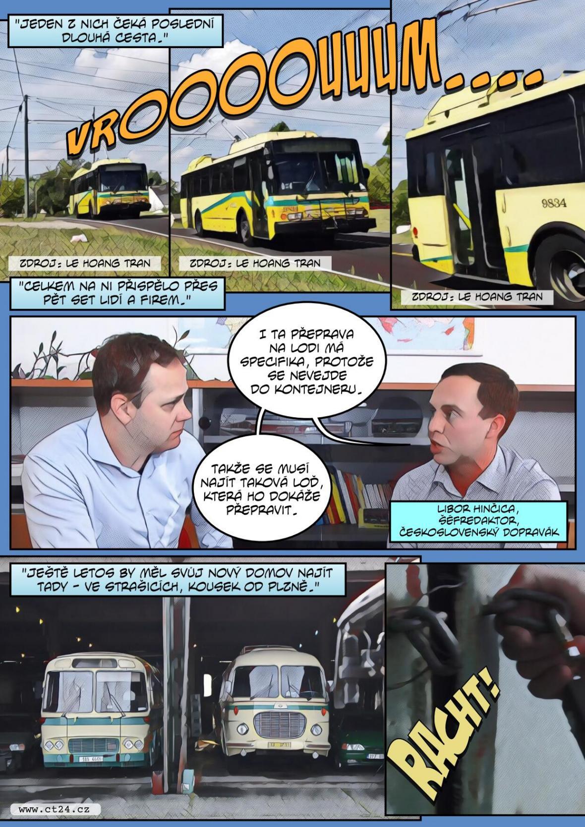 Český trolejbus se vrací z USA