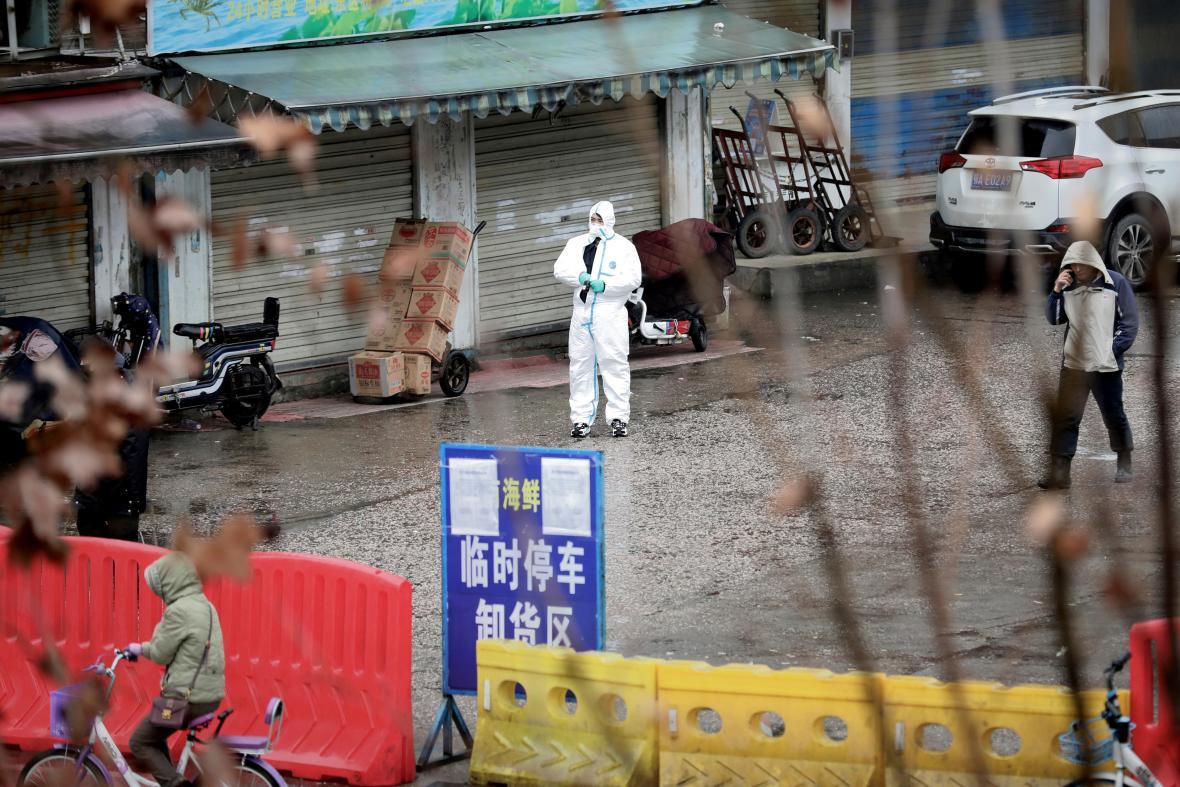 Zavřený trh ve Wu-chanu