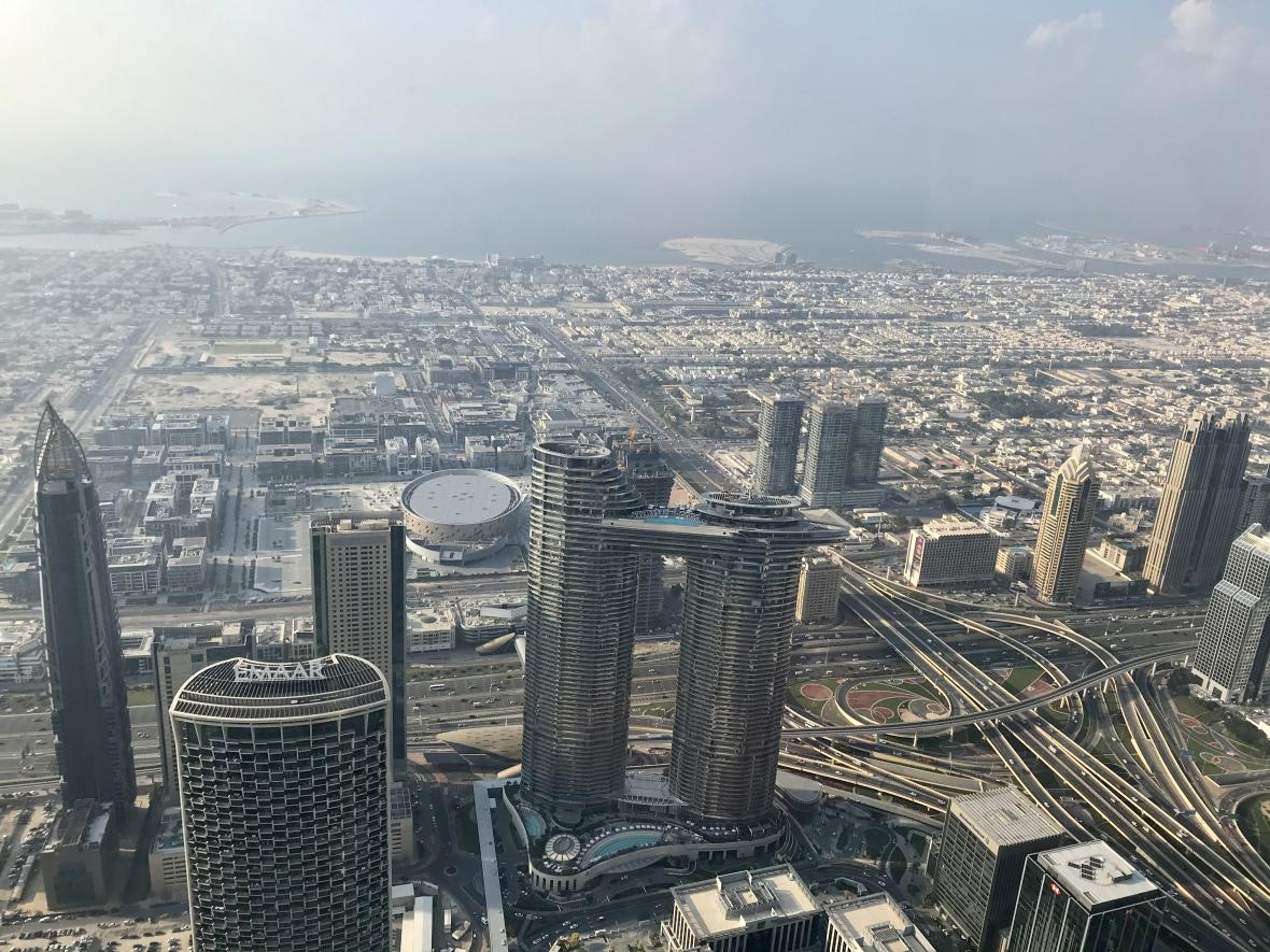 Pohled na město z Burdž Chalífy