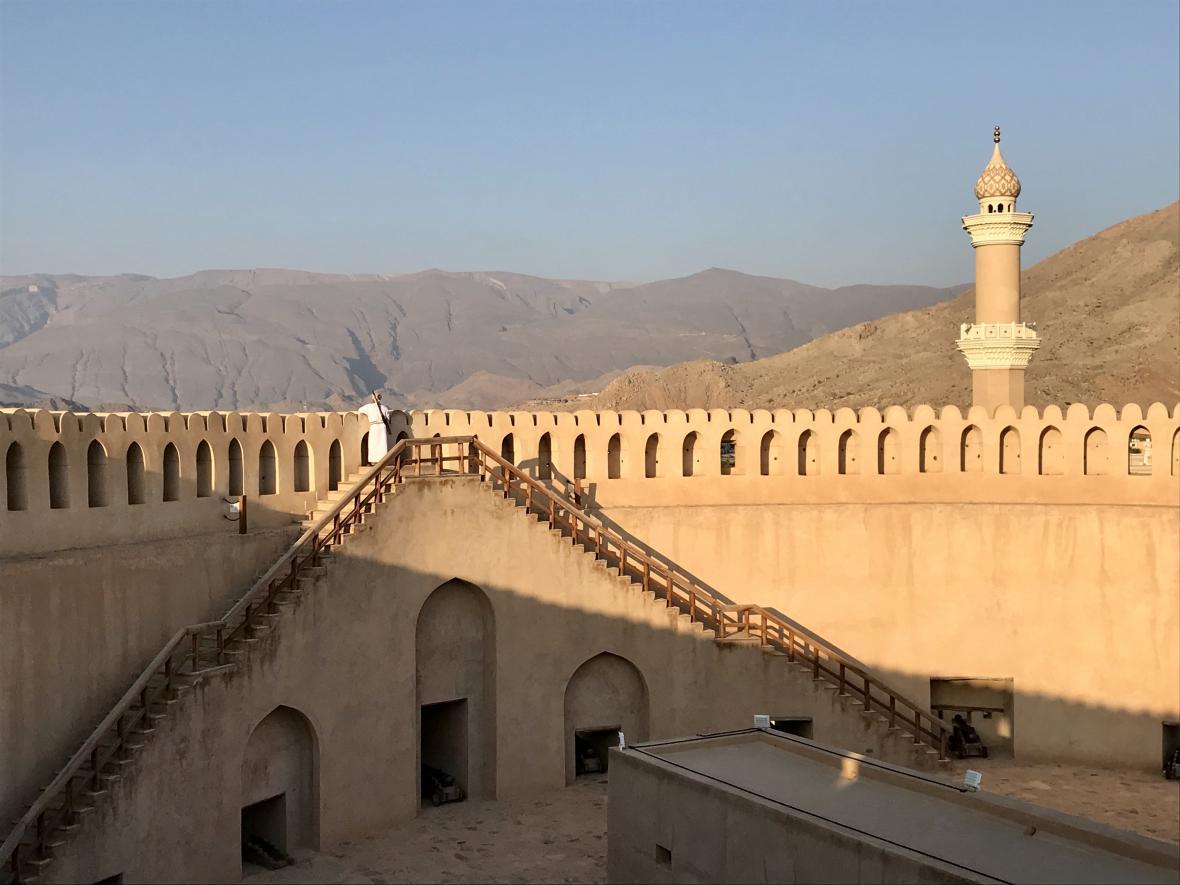 Ománská pevnost ve městě Nazvá