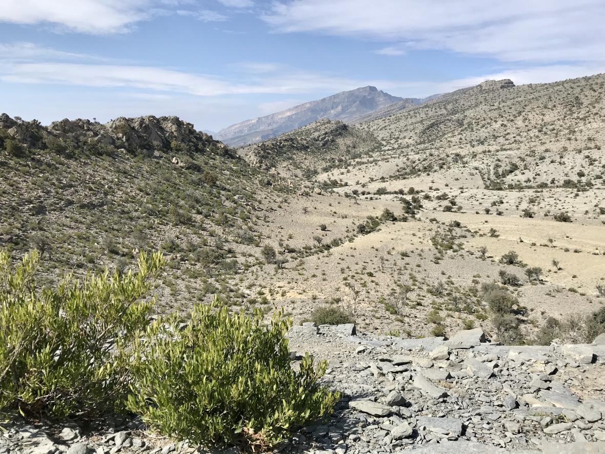Ománské hory u města Nazvá