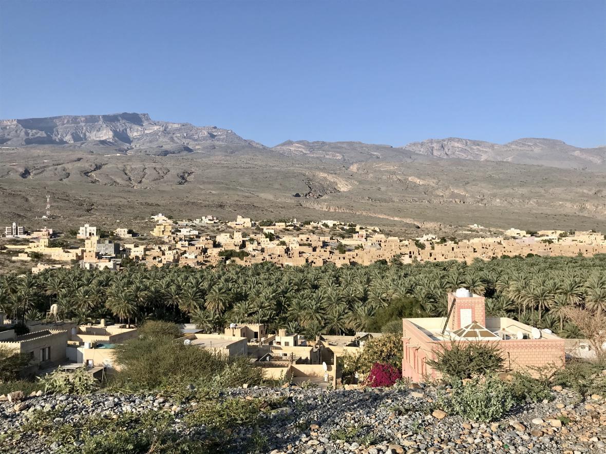 Pohled na město Al-Hamra
