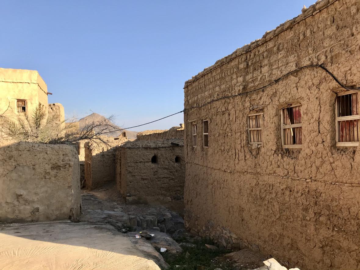 Hliněné centrum města Al-Hamra