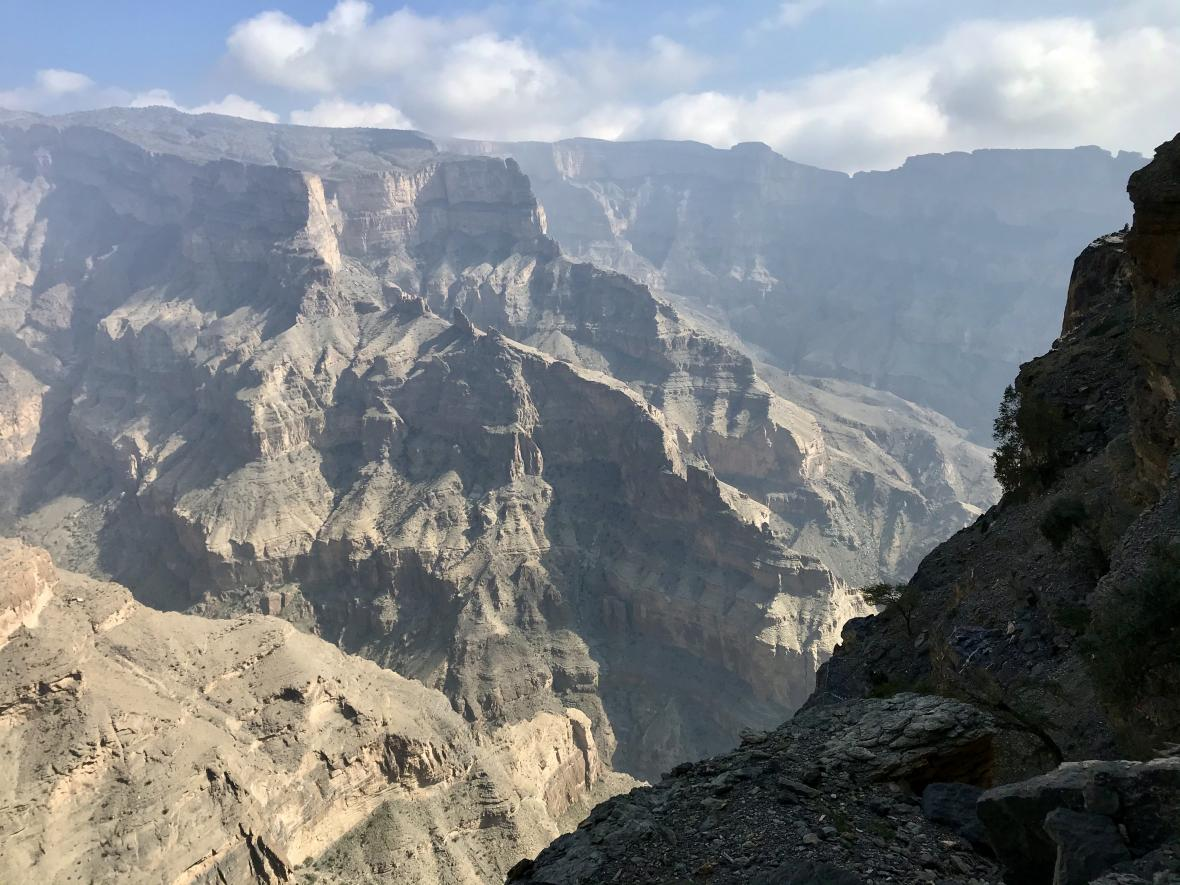 Vádí Ghul - takzvaný ománský Grand Canyon