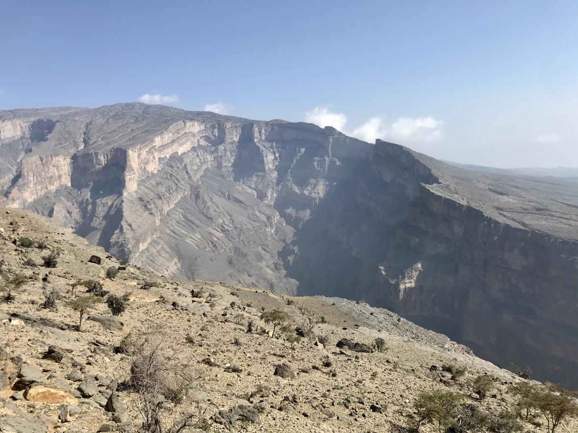 Takzvaný ománský Grand Canyon