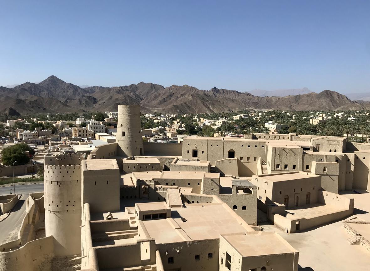 Výhled z pevnosti Bahla