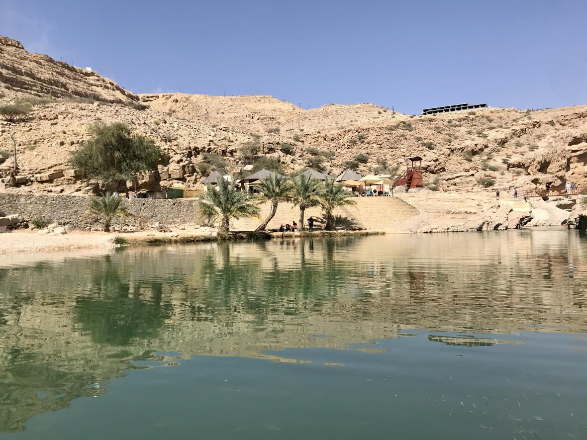 Jezírko ve Vádí Baní Chálid