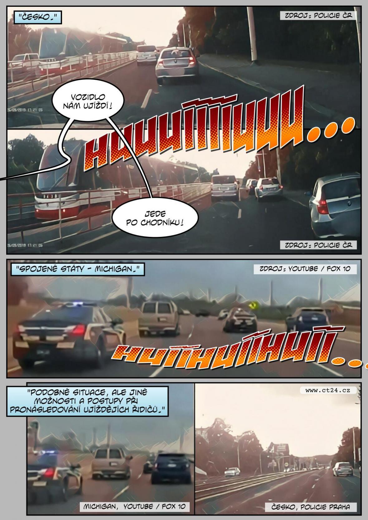 Nové bezpečností rámy pro policejní auta