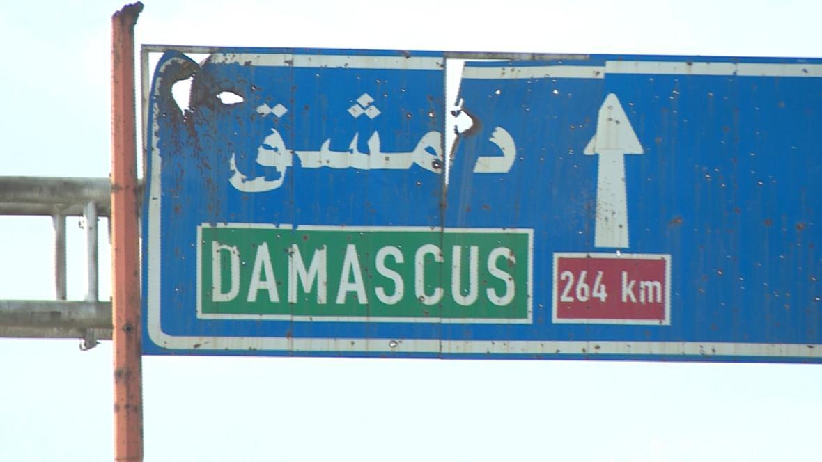 Pohled do syrského města Maarat an-Numán