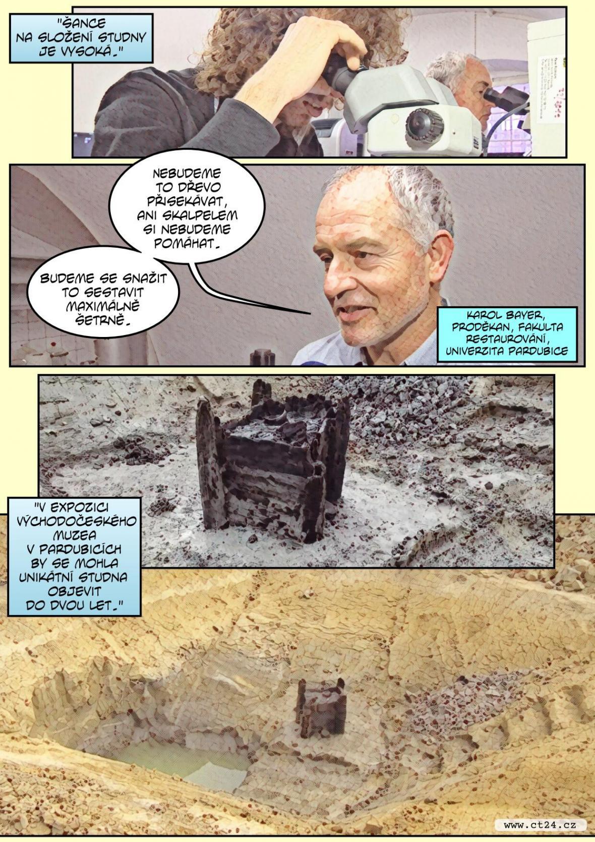 Nejstarší nalezenou dřevěnou studnu čeká rekonstrukce