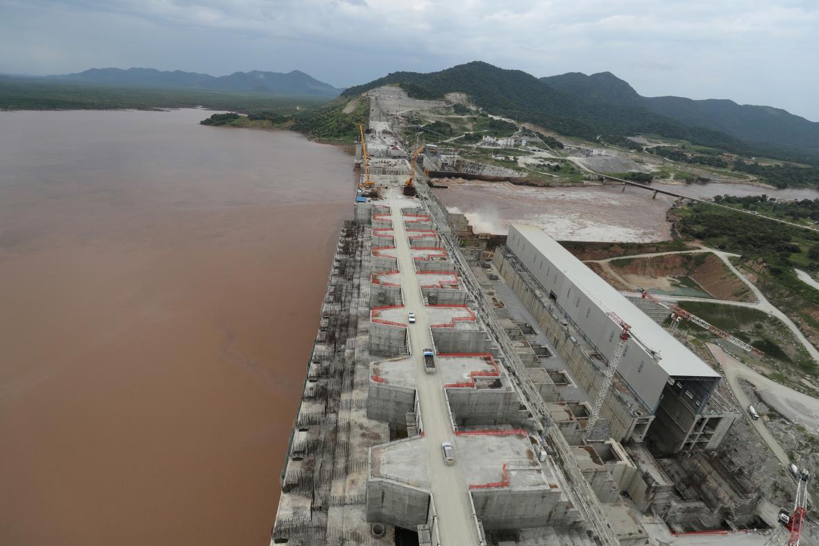 Výstavba etiopské přehrady na Nilu