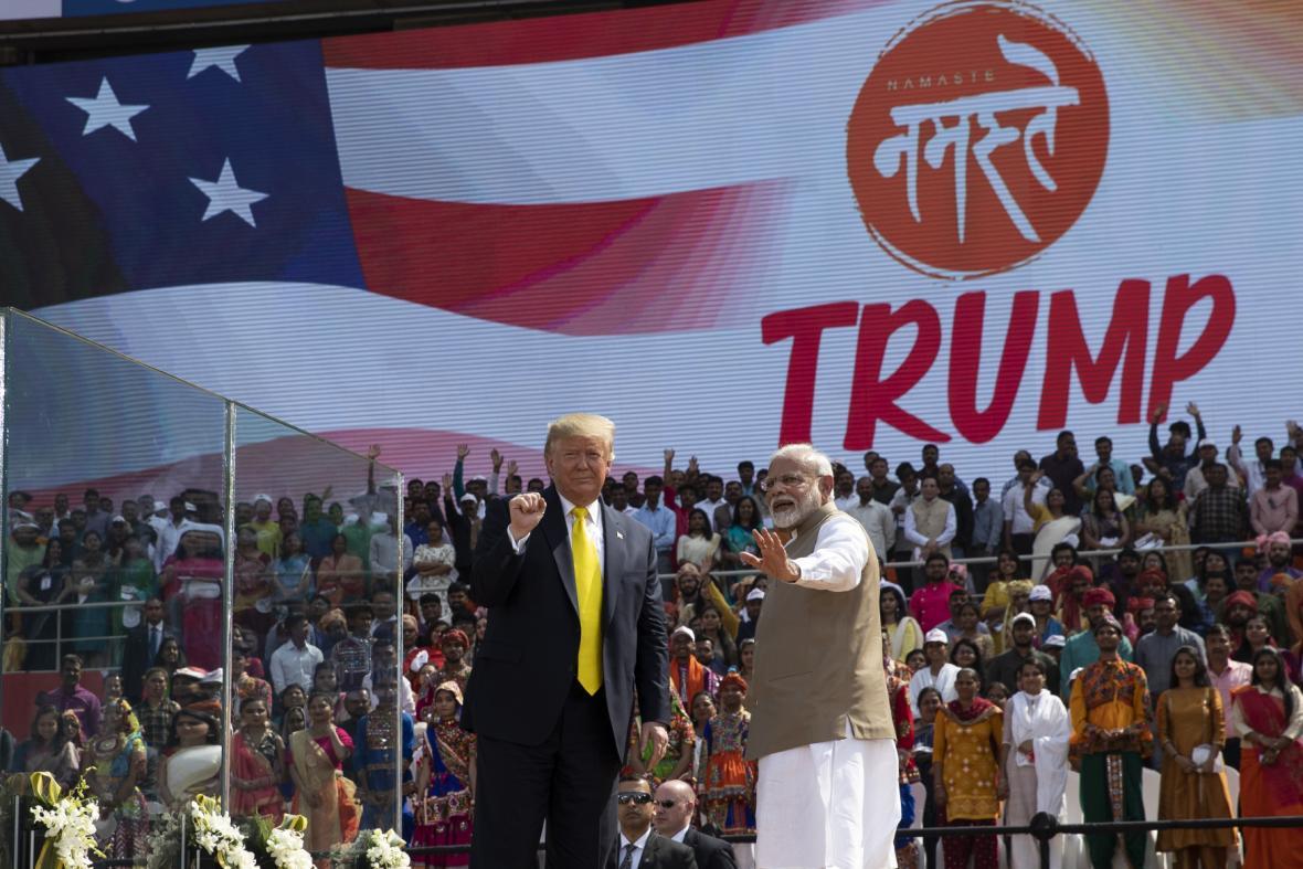 Americký prezident Donald Trump na návštěvě Indie