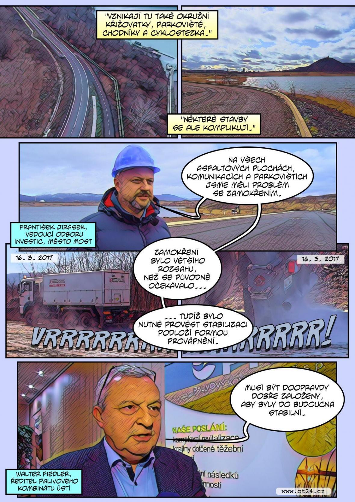 Komplikace otevření jezera Most