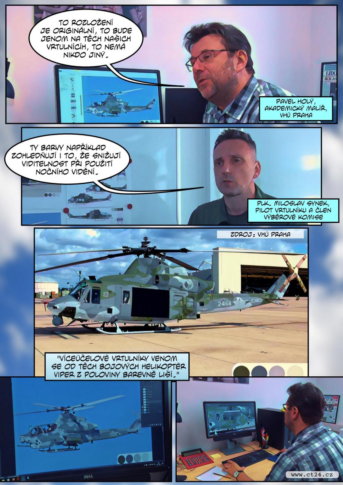 Armáda maskuje nové vrtulníky